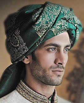 Graceful Jamawar Turban for Mens Hampton Virginia VA US Indian Groom Turbans