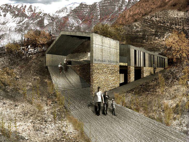 1. Ödül,Roboski Müzesi ve Anma Yeri Mimari Tasarım Yarışması