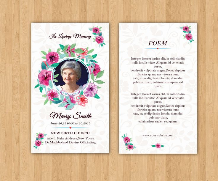 Funeral Prayer Card Template | Editable MS Word & Photoshop Template | Instant Download | Fp-255 http://etsy.me/2npr6lU  #prayer #card