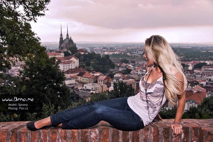 Výhled na Brno z hradu Špilberk