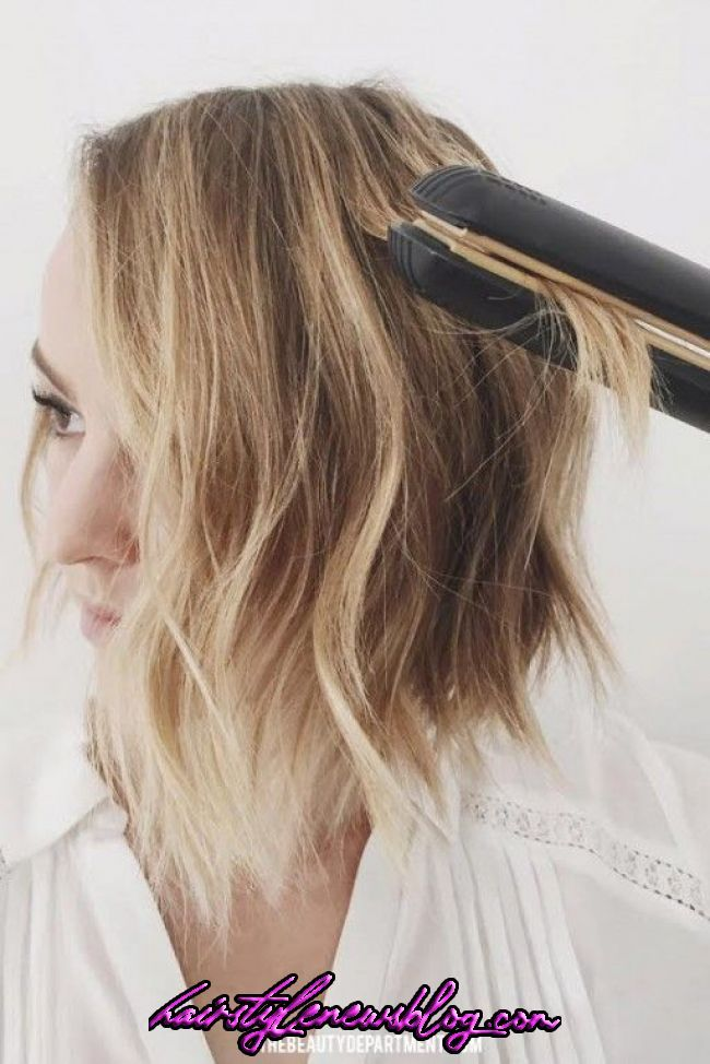 FLAT IRON WAVE TRICK | How to curl short hair, Great hair, Hair inspiration   FLAT IRON WAVE TRICK | How to curl short hair, Great hair, Hair inspiration