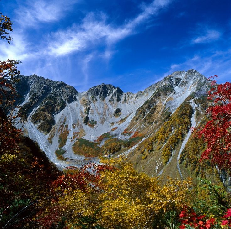 Karasawa in autumn 秋の涸沢と穂高