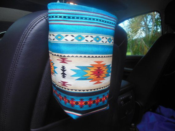 Southwestern car trash bag/accessory by teniamariecreations