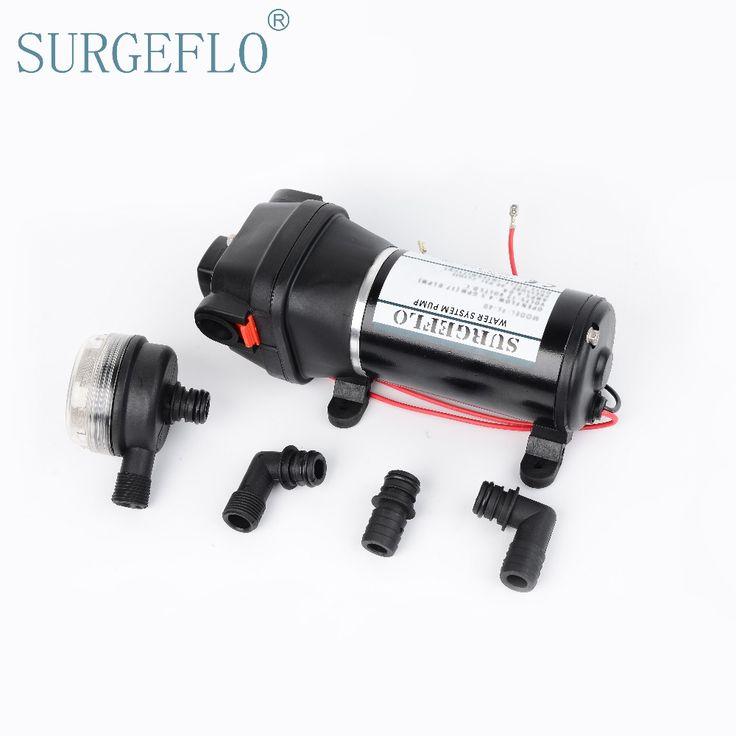 SURGEFLO 12V 24V DC Low Pressure 40PSI(2.8Bar)  Electric Diaphragm Pump Irrigation Motorhome Car Water Supply FL-40 FL-44
