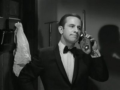 Shoephone from first episode GET SMART on TV written by BUCK HENRY.