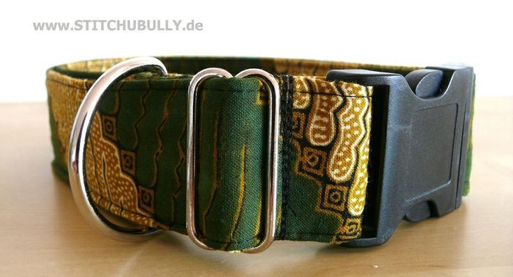 Halsband Gassi Hund Indian Summer XL von stitchbully.de auf DaWanda.com