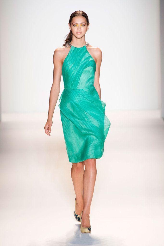 Lela Rose Spring 2013Runway Fashion, Spring2013, Green Lelaro, Green Dress, Lela Rose, Fashion 2013, Spring 2013, Shades Of Green, Rose Spring