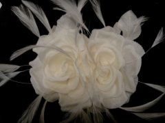Double Silk Rose - Ivory