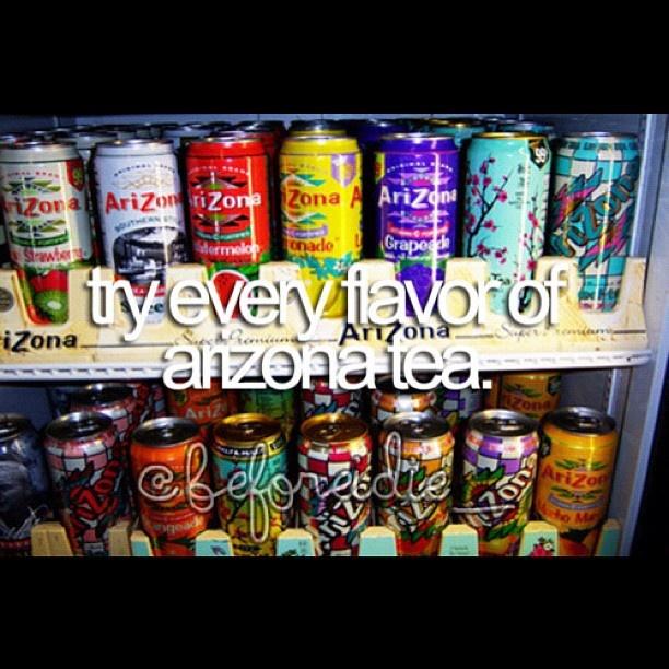 try every flavor of arizona tea. @beforeidie- #webstagram ...