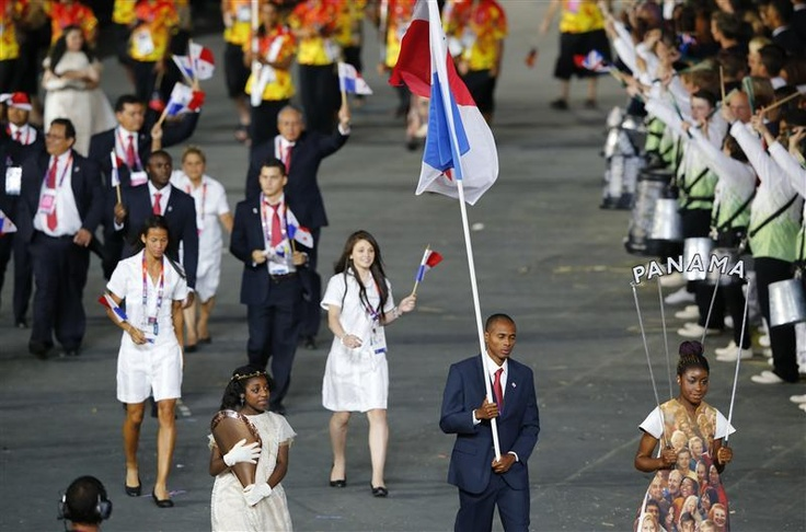 Irving Saladino, Panama's Flag Bearer at the Opening Ceremonies of the 2012 London Olympic Games #London2012