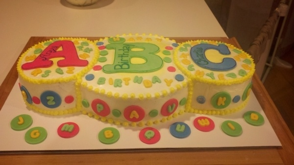 23 best abc cakes images on pinterest alphabet party for Abc cake decoration