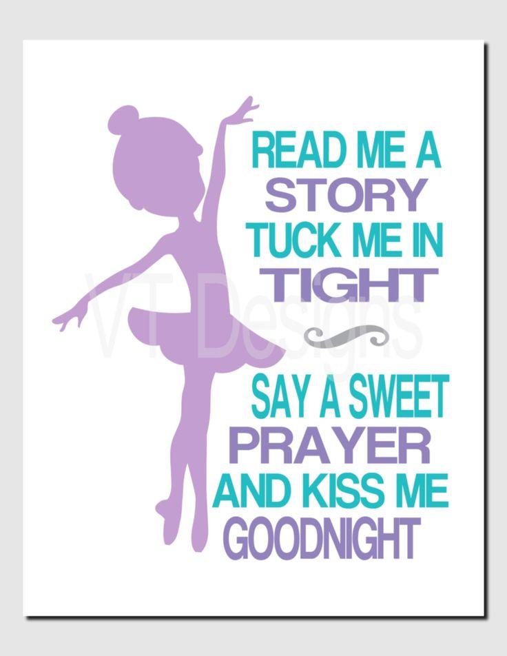 Ballerina Wall Art, Baby Girl Nursery Decor, Kids Wall Art, Read Me A Story,Purple Turquoise Aqua, Girls Room Pictures, Dancer, Art Print by vtdesigns on Etsy