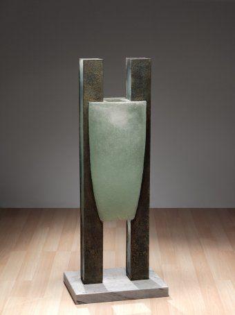 Dedicant 11, Howard Ben Tre, Brooklyn, NY, Providence, RI, United States, 1988. Gift of the Ben W. Heineman Sr. Family. 2007.4.134. #corningmuseumofglass #cmog #glass #contemporary #contemporaryglass #sculpture #studioglass #green