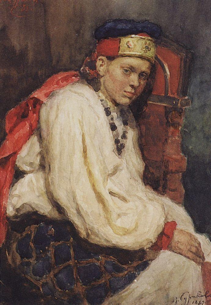 gerl Василий Суриков. Галерея живописи. Натурщица. 1882.