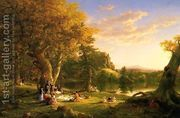 The Picnic 1846  by Thomas Cole