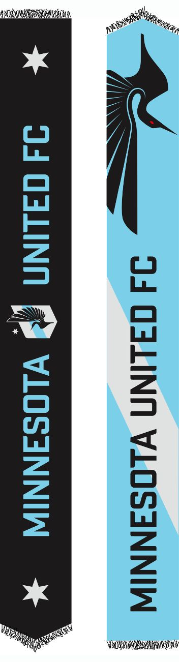 Show your pride with the official Minnesota United FC Lightweight scarf. Featuring the team name and logo on one side and a loon design on the reverse, this lightweight, polyester scarf is a perfect way to show your support all year long.