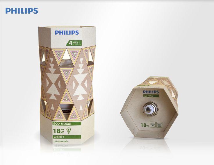 Packaging ampolleta ahorro de consumo phillips