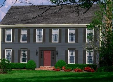 Gray house with black trim: Houses Colors, Houses 2013, Exterior Houses, Houses Ideas, Gray Houses, Houses Paintings, Doors Colors, Parks Houses, Houses With Black Trim