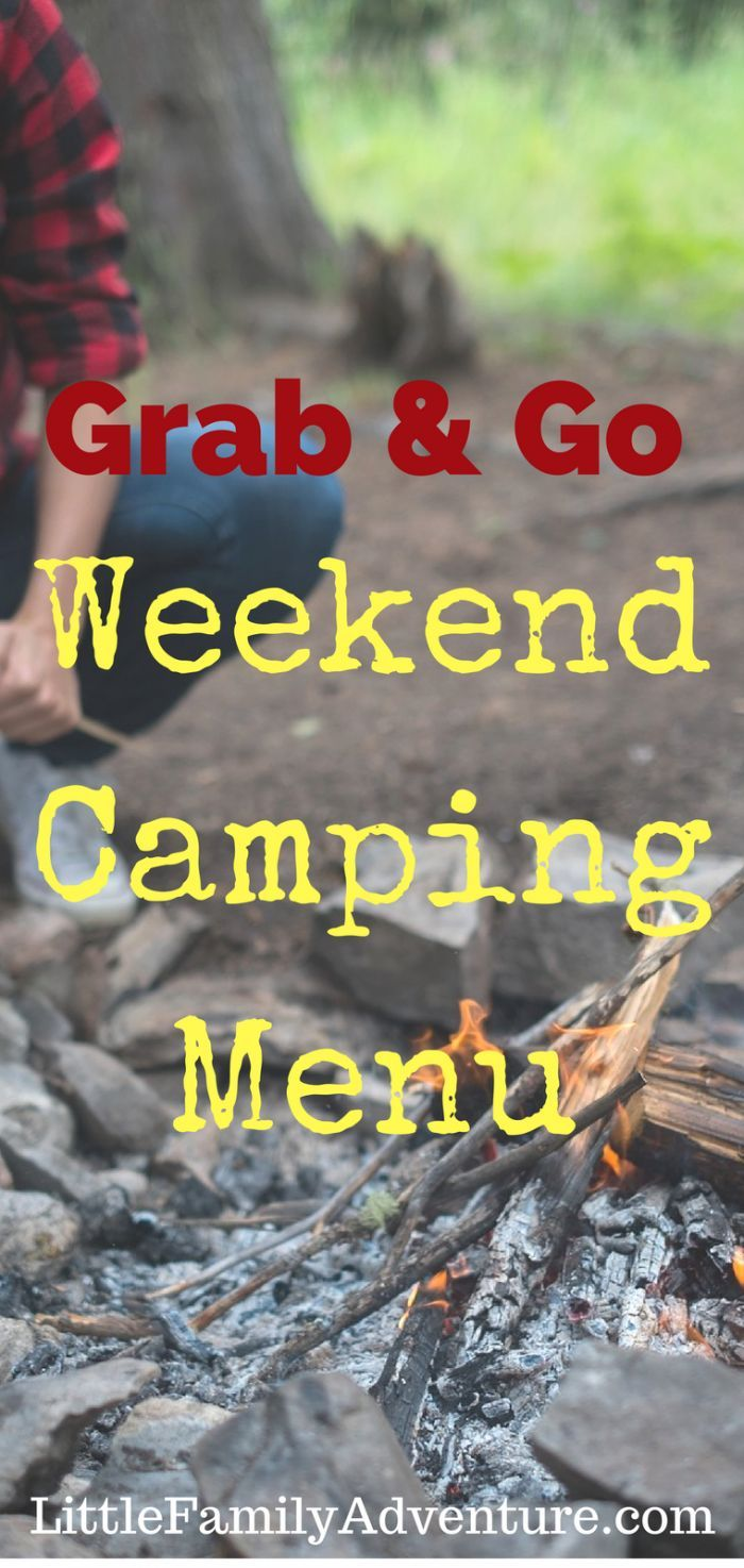 Outdoor cooking on a campfire - Grab and Go 3 day camping menu with recipes…
