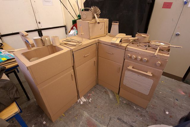 cardboard kitchen, via Flickr. this is impressive!!