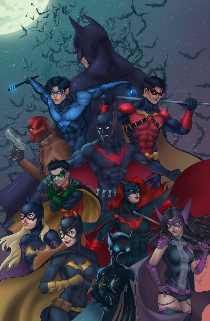 Bat Family Wallpaper : family, wallpaper, Family, Https://www.deviantart.com/artjake, @DeviantArt, Batman, Comic, Family,