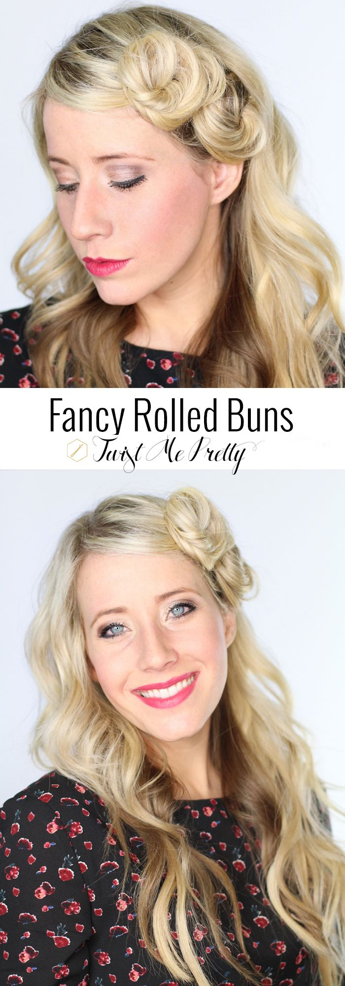 I love this asymmetrical hairstyle from Twist Me Pretty- checkout the easy tutorial!!