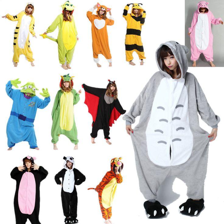 HOT Unisexe Adulte Pyjamas Kigurumi Cosplay Onesie Animaux DE Nuit Robe | eBay