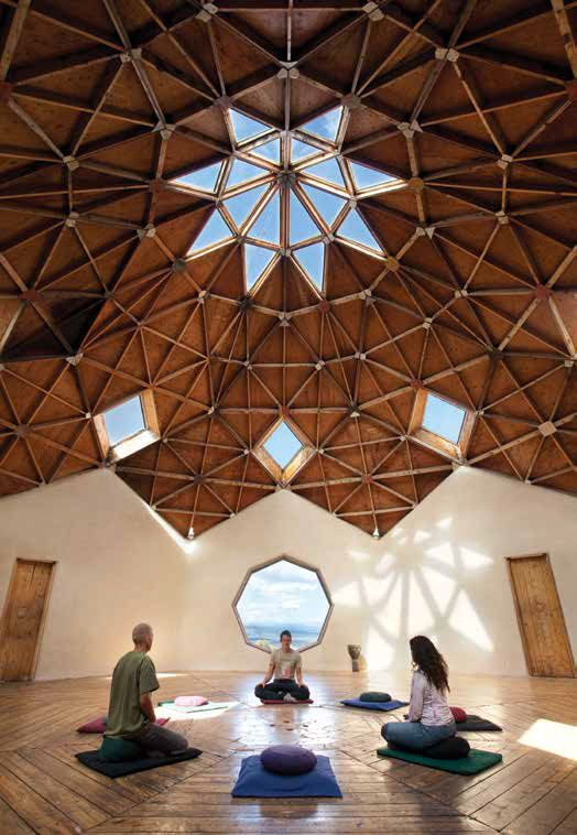 Meditation room at the Lama Foundation near Taos. Lama was one of more than two dozen communes established in the region in the late 1960s, along with Hog Farm, New Buffalo, and The Family. By the 1970s most communes had closed, but Lama was able to continue because it enjoyed more structure and discipline than the others. Today the Lama Foundation is a thriving spiritual community, educational facility, and retreat center. Photograph by Geraint Smith #summeroftreasures