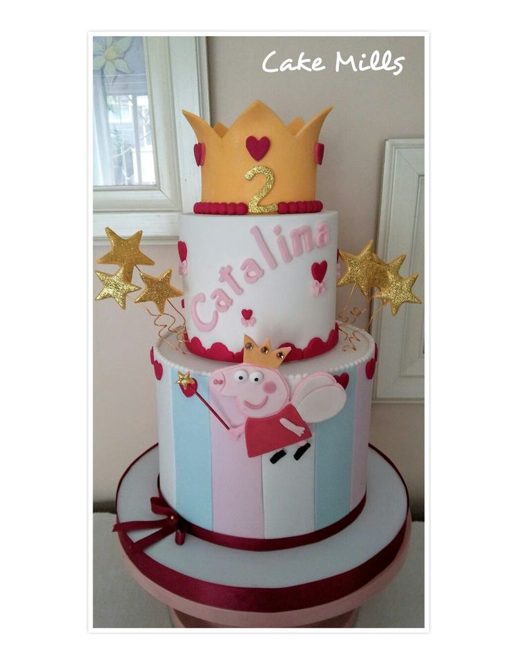 Peppa Crown cake