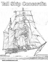 Znalezione obrazy dla zapytania tall ship coloring pages