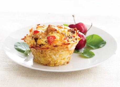 Cheesy Hash Brown Cups