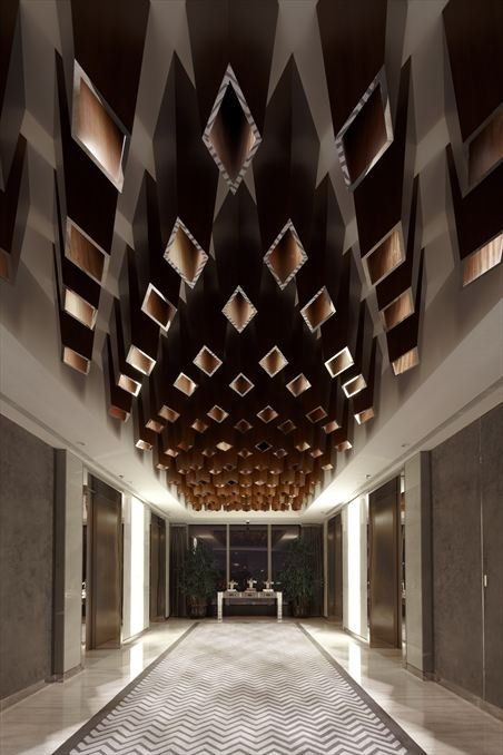 Kokaistudios have designed the Yu Bar at the Marriott Hotel in Shanghai, China.