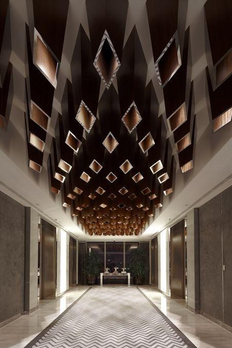 Yu Bar by Kokaistudios: Interior Design, Ceiling Design, Interiors, Ceilings, Yu Bar, Yubar