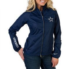 NFL Dallas Cowboys Nike Womens Extra Point Jacket in Navy - shop.dallascowboys.com