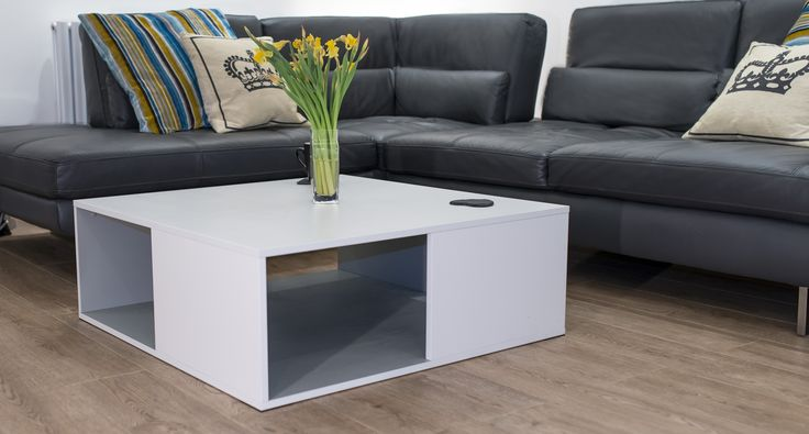 The Emilia White Oak Coffee Table is a contemporary but useful square coffee table. The modern white oak veneer is bright and eye catching whilst the warmth of the oak veneer shines through. It has a handy storage area underneath in contrasting Grey Oak veneer.