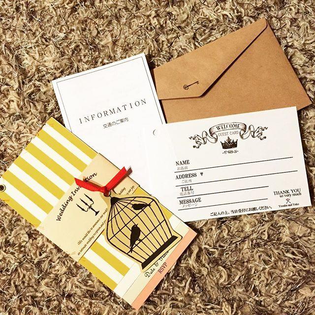 招待状に同封して式当日の面倒をなくそう☆ウェディングのおしゃれなゲストカード参考例♪