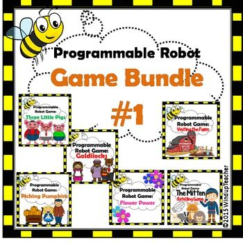 Buy+the+Bundle+and+$ave+50%!++This+is+my+Programmable+Robots+Game+Bundle+#1.++My+1st+and+2nd+graders+have+LOVED+learning+to+code+with+Bee-Bots+(TM)+although+you+can+use+these+Mat+Cards+and+Game+Directions+with+any+programmable+robot.It+includes+the+following+Games+from+my+TPT+store:+Pumpkin+PickingThe+Three+Little+PigsGoldilocksFlower+Power+GameThe+Mitten+Retelling+GameFarm+Mat+Cards+&+Game
