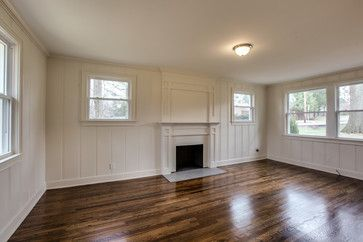 Painted knotty pine walls pergo flooring basement Painting paneling in basement