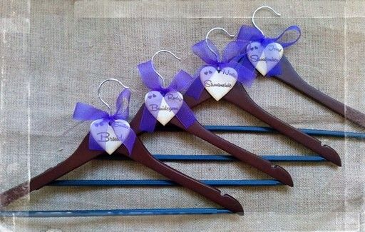 Bridal hanger with wooden heart