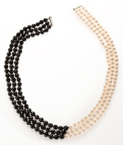 Harlequin Pearl and Onyx Necklace by Lynne Francis-Lunn: $125 #Necklace #Lynne_Francis_Lunn
