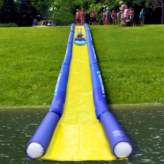 Rave Sports Turbo Chute Water Slide Lake Package | Overstock.com Shopping - The Best Prices on Rave Sports Inflatables