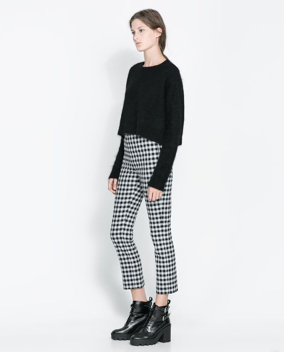 Image 1 of CHECKERED TROUSERS from Zara