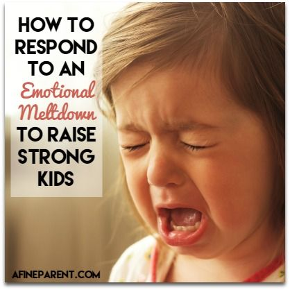 Excellent article - 5 steps for responding to an emotional meltdown - main poster
