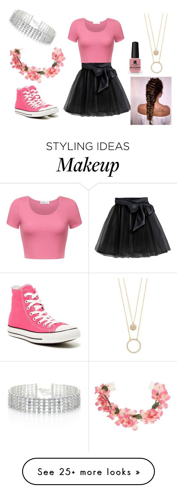 """When You're Too Tumblr"" by peter-pan-in-wonderland on Polyvore featuring Little Wardrobe London, Victoria's Secret, Red Herring, Kate Spade, Converse and Miss Selfridge"
