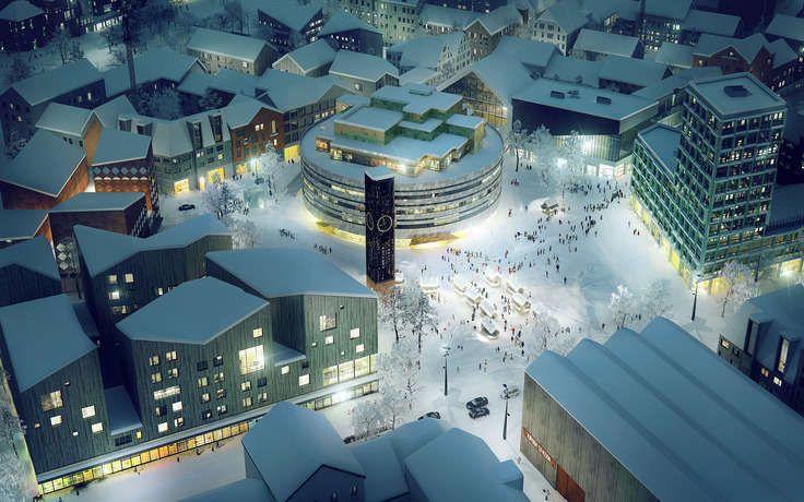 Kiruna square winter