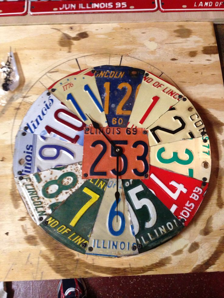 Car Craft Vw >> License Plate Clock   License Plate projects   Pinterest   License plates, Clock and Plates