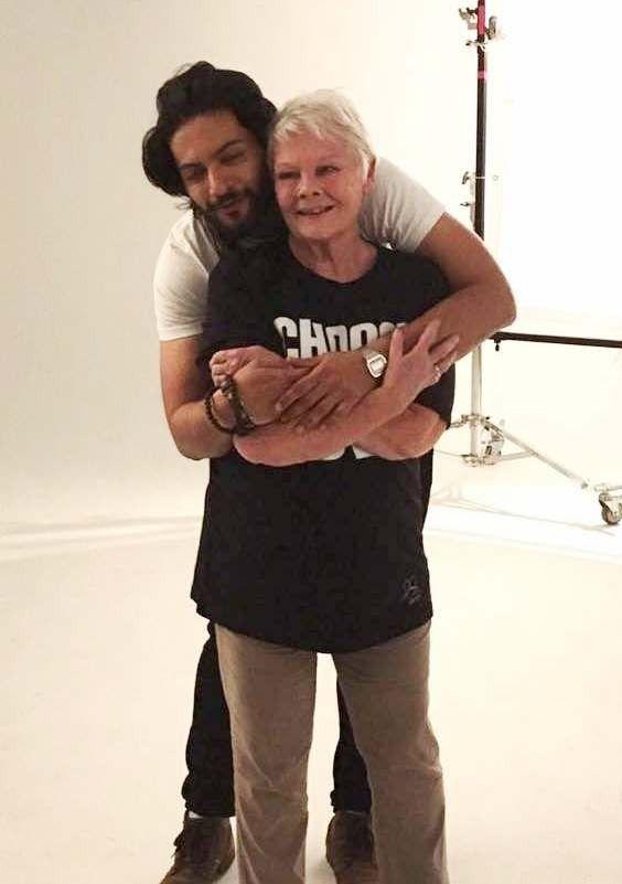 bollywoodmirchitadka: Ali Fazal and Judi Dench Photo Shoot for Choose Lo...