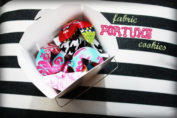 Projects With Fabric: Fabulous Fortune Cookies