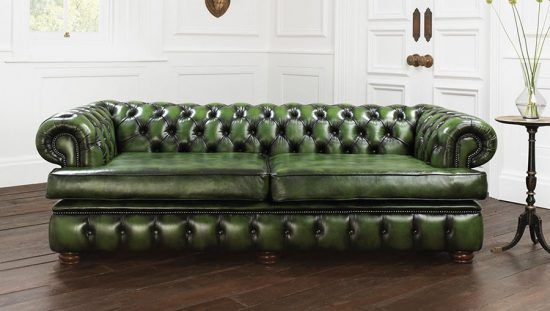 Give your home a trendy look with 2017 green leather sofa