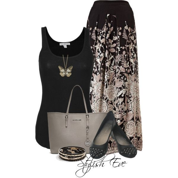 Stylish Eve Outfits 2013: Quick and Stylish Floral Maxi Skirts